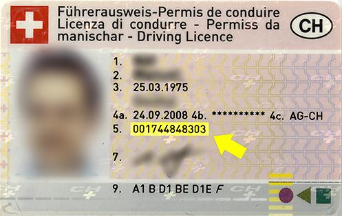 12-stellige Führerausweis-Nr.